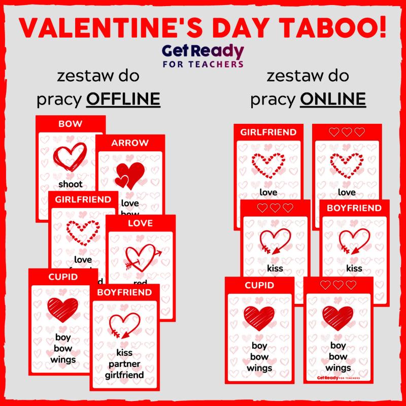 Valentine's Day TABOO! + GRATIS NIESPODZIANKA!